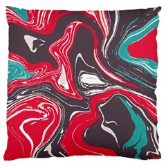 Red Vivid Marble Pattern 3 Standard Flano Cushion Case (one Side)