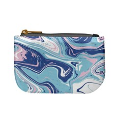 Blue Vivid Marble Pattern 12 Mini Coin Purse by goljakoff