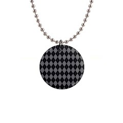Black Diamonds 1  Button Necklace