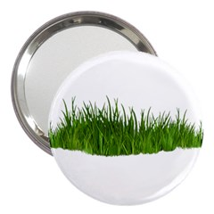 Green Grass 3  Handbag Mirrors by dajjj