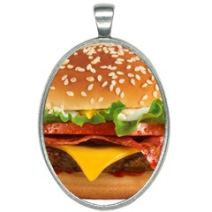 Burger Oval Necklace