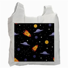 Cosmos Rockets Spaceships Ufos Recycle Bag (two Side)