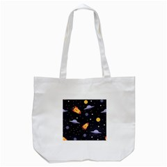 Cosmos Rockets Spaceships Ufos Tote Bag (white)