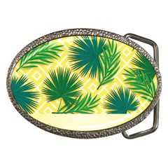 Yellow Tropical Pattern Belt Buckles