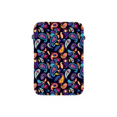 Paisley Baatik Purple Print Apple Ipad Mini Protective Soft Cases by designsbymallika