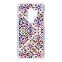 Antique Tile Pattern Samsung Galaxy S9 Plus Seamless Case(white) by designsbymallika