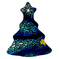 Sea-fans-diving-coral-stained-glass Ornament (christmas Tree)