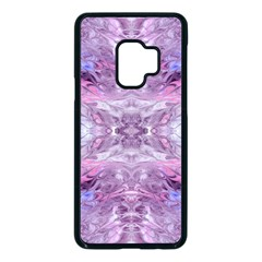Pink Grey Repeats Samsung Galaxy S9 Seamless Case(black) by meanmagentaphotography