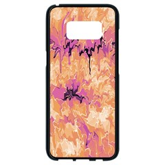 Yellow And Pink Abstract Samsung Galaxy S8 Black Seamless Case