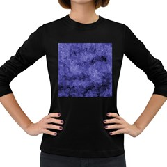 Lilac Abstract Women s Long Sleeve Dark T-shirt by Dazzleway