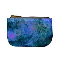 Lilac And Green Abstract Mini Coin Purse