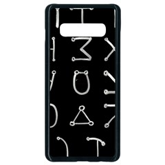 Heinrich Cornelius Agrippa Of Occult Philosophy 1651 Angelic Alphabet Or Celestial Writing Collected Inverted Samsung Galaxy S10 Plus Seamless Case (black) by WetdryvacsLair