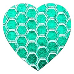 Hexagon Windows Jigsaw Puzzle (heart) by essentialimage