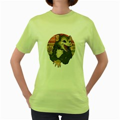 Possum  Women s Green T-shirt