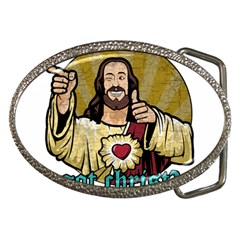 Buddy Christ Belt Buckles