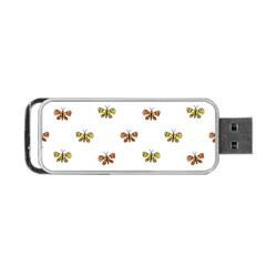 Butterfly Cartoon Drawing Motif  Pattern Portable Usb Flash (two Sides)