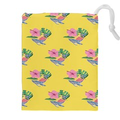 Floral Drawstring Pouch (2xl) by Sparkle
