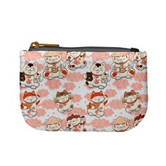 Menaki Cat Pattern Mini Coin Purse