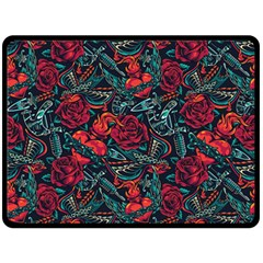 Strangled In Love Double Sided Fleece Blanket (large)