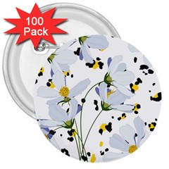 Tree Poppies  3  Buttons (100 Pack)