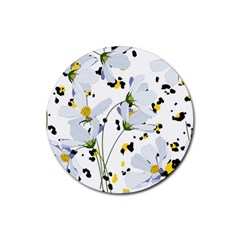 Tree Poppies  Rubber Coaster (round)  by Sobalvarro