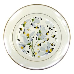 Tree Poppies  Porcelain Plates by Sobalvarro