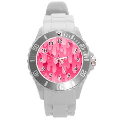 Rose Slime  Round Plastic Sport Watch (l)