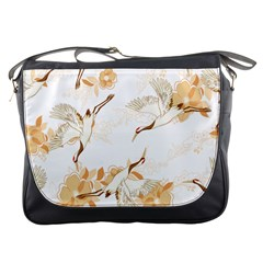 Birds And Flowers  Messenger Bag by Sobalvarro