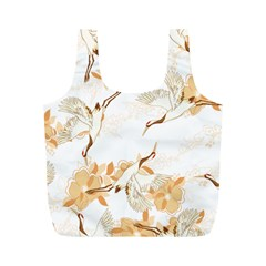 Birds And Flowers  Full Print Recycle Bag (m)