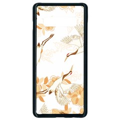 Birds And Flowers  Samsung Galaxy S10 Plus Seamless Case (black) by Sobalvarro