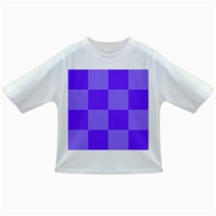 Purple Gingham Check Squares Pattern Infant/toddler T-shirts