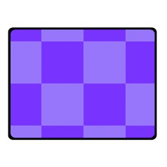 Purple Gingham Check Squares Pattern Fleece Blanket (small)