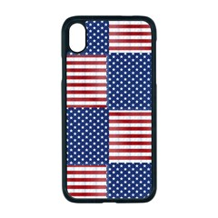 Red White Blue Stars And Stripes Iphone Xr Seamless Case (black)