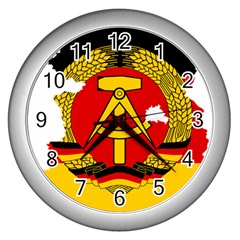 Flag Map Of East Germany (1959¨c1990) Wall Clock (silver)