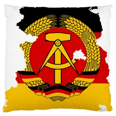 Flag Map Of East Germany (1959¨c1990) Large Cushion Case (two Sides)