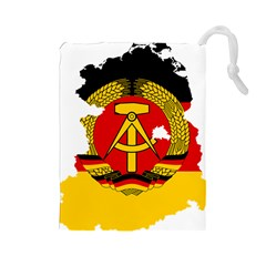 Flag Map Of East Germany (1959¨c1990) Drawstring Pouch (large)
