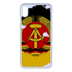 Flag Map Of East Germany (1959¨c1990) Iphone Xs Max Seamless Case (white)