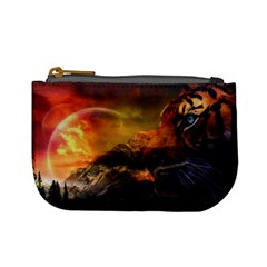 Tiger King In A Fantastic Landscape From Fonebook Mini Coin Purse