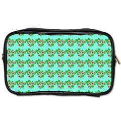 Flowers Pattern Toiletries Bag (two Sides) by Sparkle