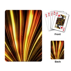 Energy Flash Futuristic Glitter Playing Cards Single Design (rectangle)