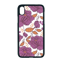 Pink Flowers Iphone Xr Seamless Case (black)