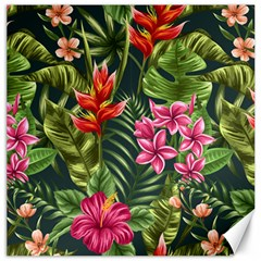 Tropic Flowers Canvas 12  X 12  by goljakoff