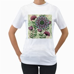 Mandala Flower Women s T-shirt (white)  by goljakoff