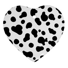 Spots Heart Ornament (two Sides) by Sobalvarro