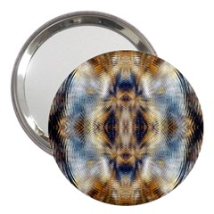 Retro Hippie Vibe Psychedelic Silver 3  Handbag Mirrors by CrypticFragmentsDesign