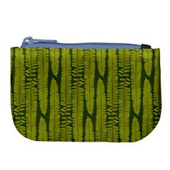 Fern Texture Nature Leaves Large Coin Purse by Dutashop