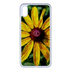 Sunflower Painting Iphone Xs Max Seamless Case (white)