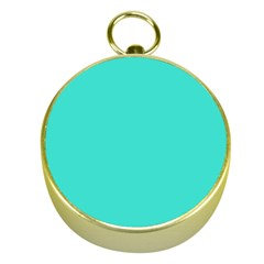 Color Turquoise Gold Compasses