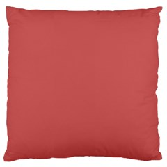 Color Indian Red Large Flano Cushion Case (two Sides)