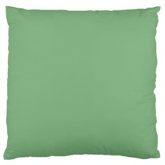 Color Dark Sea Green Large Flano Cushion Case (two Sides)